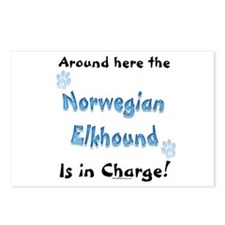 Elkhound Charge Postcards (Package of 8)