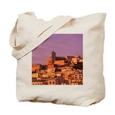 Eivissa. City view from harbor in late af Tote Bag
