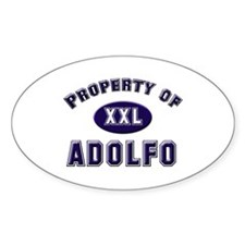 Property of adolfo Oval Decal