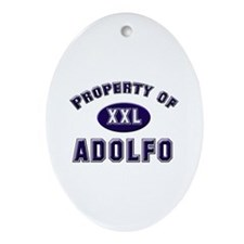 Property of adolfo Oval Ornament