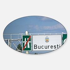 Romania. Main road with traffic lea Decal