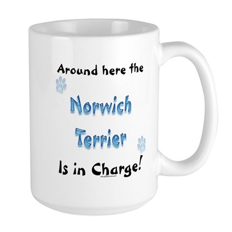 Norwich Terrier Charge Large Mug