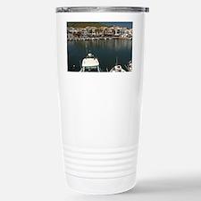 Fishing village of Fornells on  Travel Mug