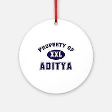 Property of aditya Ornament (Round)