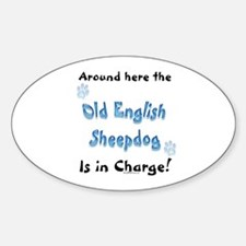 Sheepdogs Charge Oval Decal