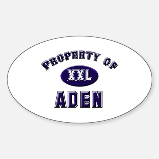 Property of aden Oval Decal