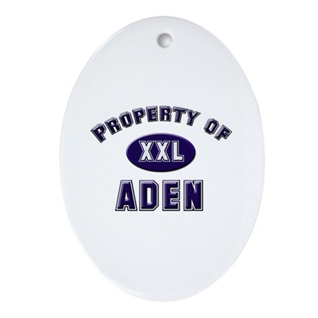 Property of aden Oval Ornament