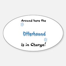 Otterhound Charge Oval Decal