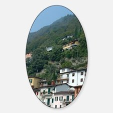 Switzerland, Lugano, Lake Lugano, l Sticker (Oval)