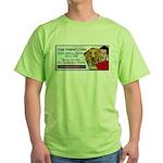 Man Hugs Dog Color Green T-Shirt