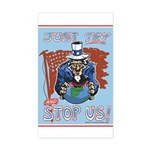 Just Try and Stop US Sticker (Traditional Colors)
