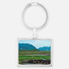 Reindeer migration (Rangifer Ta Landscape Keychain