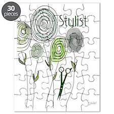 stylist retro flowers 1 Puzzle