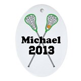 Lacrosse Oval Ornaments