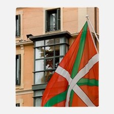 Spain, Bilbao. Basque flag Throw Blanket