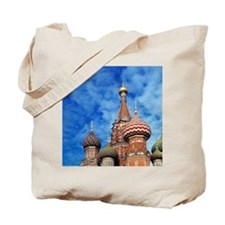 The ornate spires of St. Basil's Cathedra Tote Bag