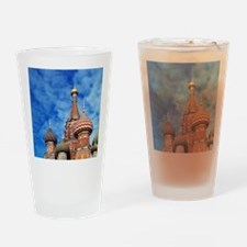 The ornate spires of St. Basil's Ca Drinking Glass