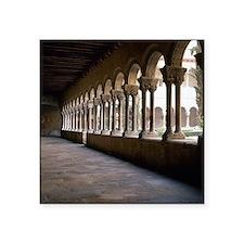 "Romanesque Art. Monastery o Square Sticker 3"" x 3"""