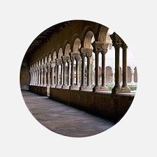 """Romanesque Art. Monastery of Santa Mar 3.5"""" Button"""