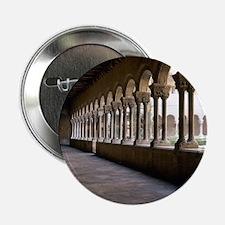 """Romanesque Art. Monastery of Santa Ma 2.25"""" Button"""
