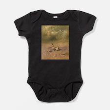 Scared Rabbit Baby Bodysuit