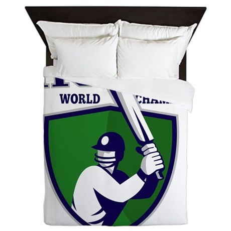 cricket player batsman india world cha Queen Duvet