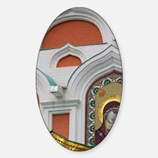 Red Square. Our Lady of Kazan Cathe Sticker (Oval)