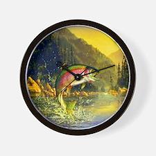 Rainbow Trout Jumping Wall Clock