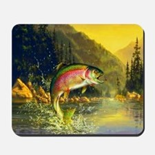 Rainbow Trout Jumping Mousepad