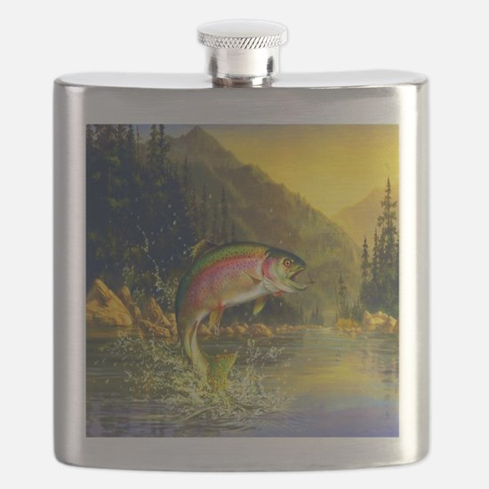Rainbow Trout Jumping Flask