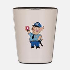 Cop Chops: Color Shot Glass