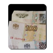 The Rouble bills and coins. nd co Mousepad