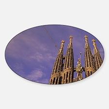 Sagrada Familia Cathedral (Antonio  Sticker (Oval)