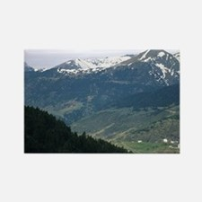 The mountains of Andorra. Rectangle Magnet