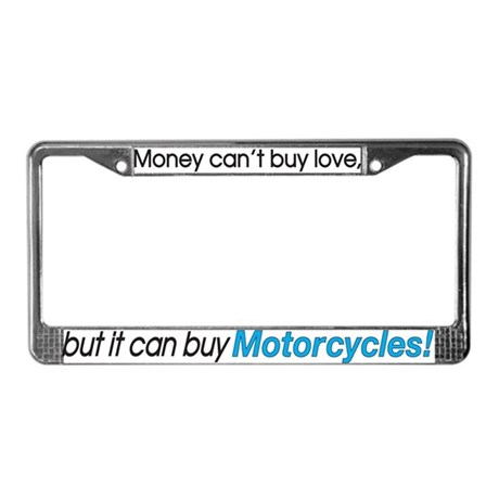 Money & Motorcycles License Plate Frame