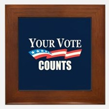 Your Vote Counts Framed Tile