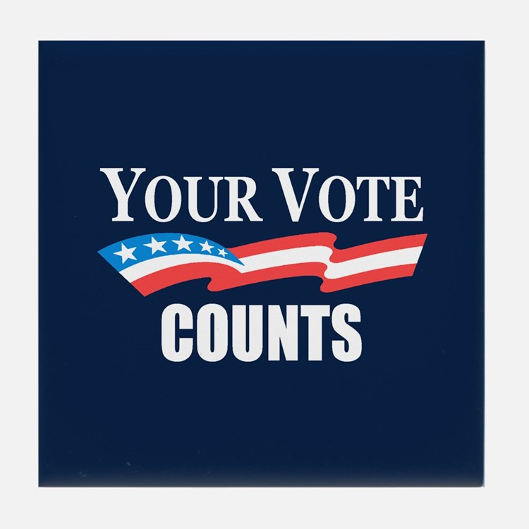 Your Vote Counts Tile Coaster