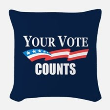 Your Vote Counts Woven Throw Pillow