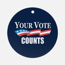 Your Vote Counts Ornament (Round)