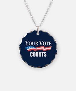 Your Vote Counts Necklace