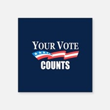 Your Vote Counts Sticker
