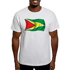 Wavy Guyana Flag T-Shirt