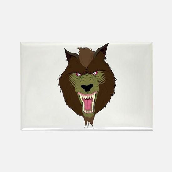 Werewolf Rectangle Magnet