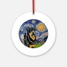 J-Starry-Rottweiler3 Round Ornament
