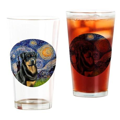 J-Starry-Rottweiler3 Drinking Glass