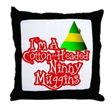 Cotton Headed Ninny Muggins BLK Throw Pillow