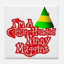 Cotton Headed Ninny Muggins BLK Tile Coaster
