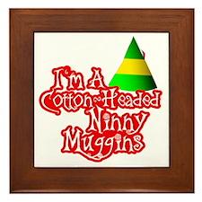 Cotton Headed Ninny Muggins BLK Framed Tile