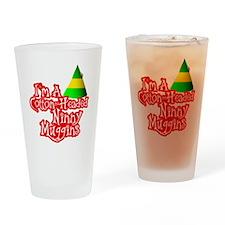 Cotton Headed Ninny Muggins BLK Drinking Glass