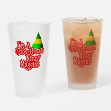Cotton Headed Ninny Muggins BLK Drinking Glass